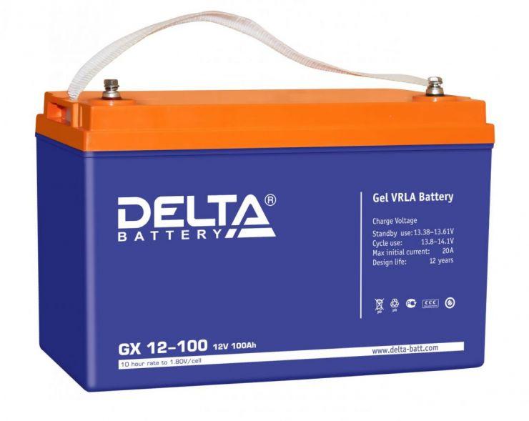 Аккумулятор свинцово-кислотный АКБ DELTA (Дельта) GX 12-100 12 Вольт 100 Ач (Gel)