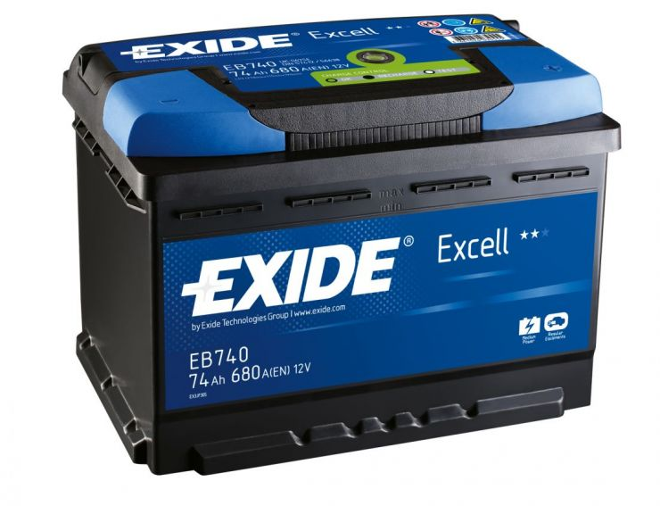 Автомобильный аккумулятор АКБ Exide (Эксайд) Excell EB740 74Ач о.п.
