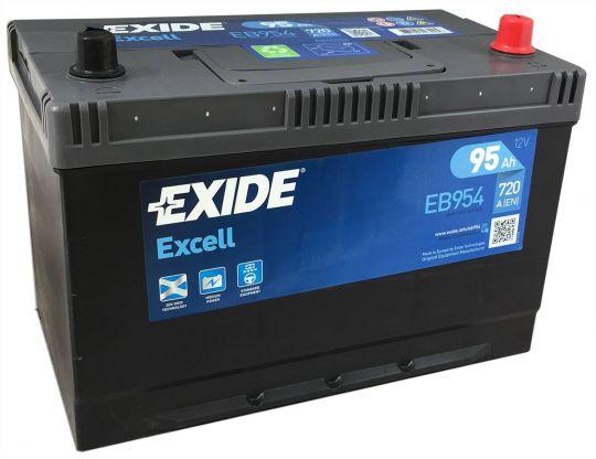 Автомобильный аккумулятор АКБ Exide (Эксайд) Excell EB954 95Ач о.п.
