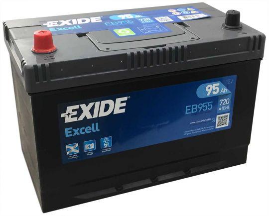 Автомобильный аккумулятор АКБ Exide (Эксайд) Excell EB955 95Ач п.п.