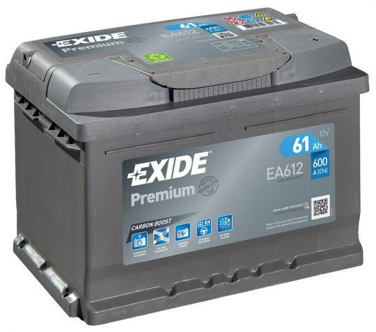 Автомобильный аккумулятор АКБ Exide (Эксайд) Premium EA612 61Ач о.п.