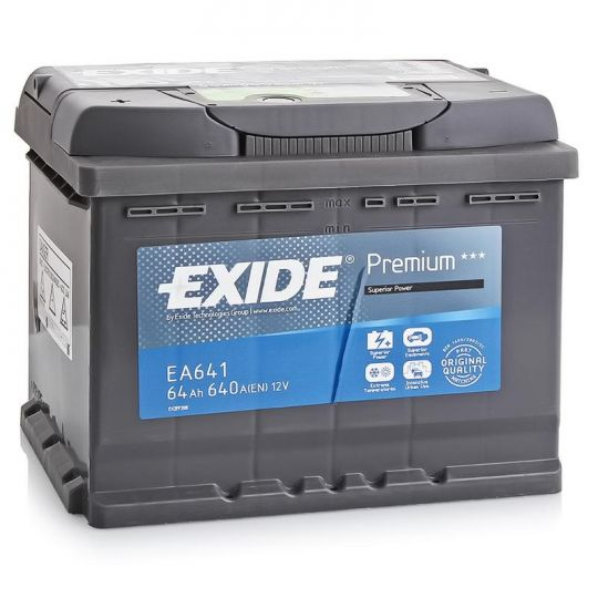 Автомобильный аккумулятор АКБ Exide (Эксайд) Premium EA641 64Ач п.п.