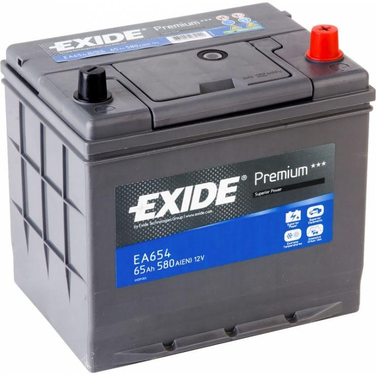 Автомобильный аккумулятор АКБ Exide (Эксайд) Premium EA654 65Ач о.п.