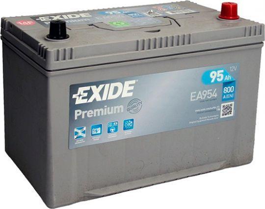 Автомобильный аккумулятор АКБ Exide (Эксайд) Premium EA954 95Ач о.п.