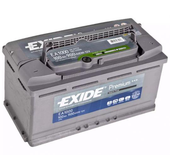 Автомобильный аккумулятор АКБ Exide (Эксайд) Premium EA1000 100Ач о.п.