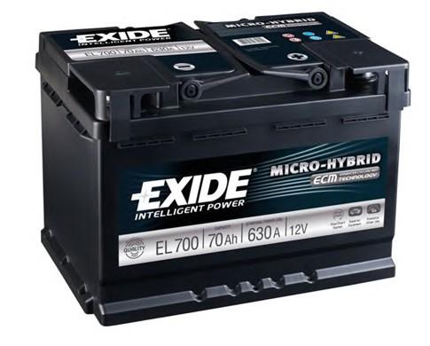 Автомобильный аккумулятор АКБ Exide (Эксайд) Start-Stop EFB EL700 70Ач о.п.