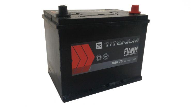 Автомобильный аккумулятор АКБ FIAMM (ФИАММ) BLACK Titanium D2675 75Ач О.П.
